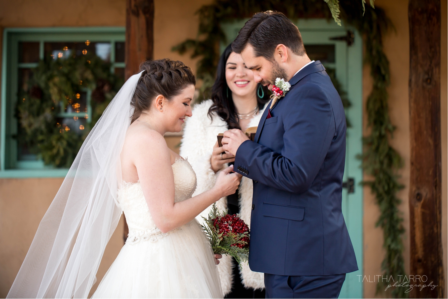 Santa Fe Outdoor Winter Wedding