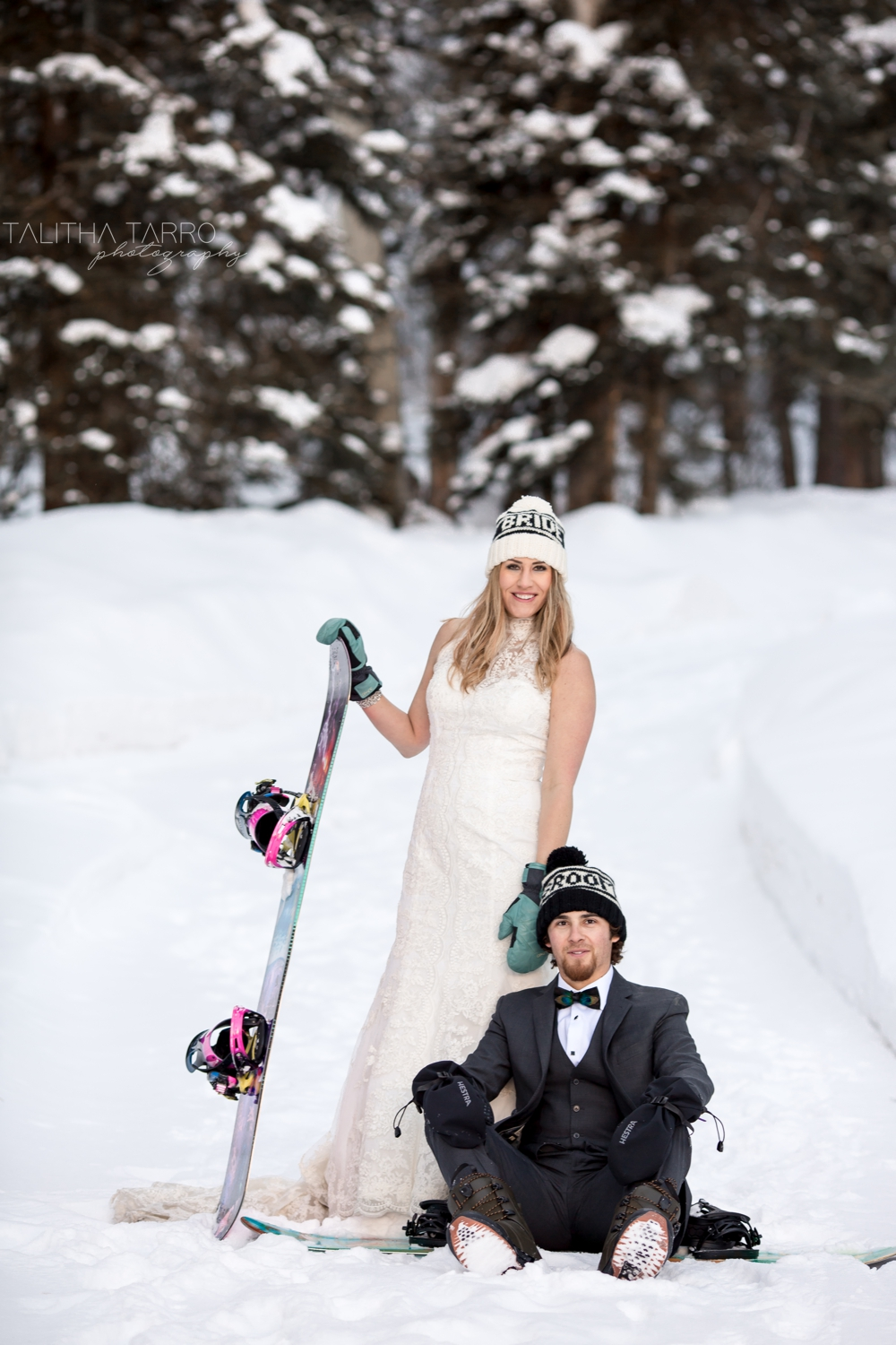 Snowboarders Wedding Day